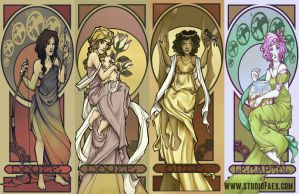 Mucha-The Hunger Games by penguinfaery