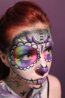 Day of the Dead Body Paint 02 by Faeriegem