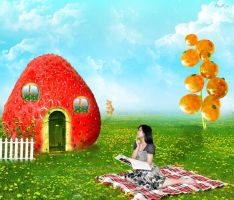 Strawberry house in Dream Town by M-Twins