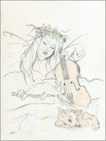 Winters song -WIP sketch by Katerina-Art