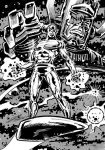 Silver Surfer and Galactus by Simon-Williams-Art