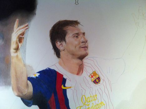 A1 Lionel Messi    WIP by SSDrawings