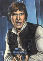 HAN SOLO 3 SKETCH CARD by AHochrein2010
