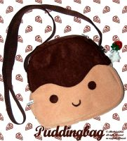 Kawaii Pudding Bag by Greencherryplum