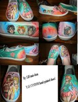 Hand painted shoes by lilYumi-chan