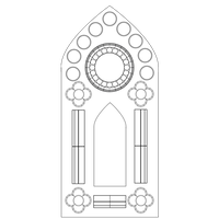Stained Glass Window Template - Single Panel by Maleficent84