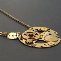 Steampunk Jewelry Brass Necklace by Tanith-Rohe