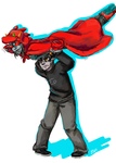 Flying dragon Terezi by CagedNightmare