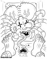 Nightmare Fuel Coloring Page 2 by scythemantis