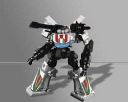Armored Core - Wheeljack by leangreen76