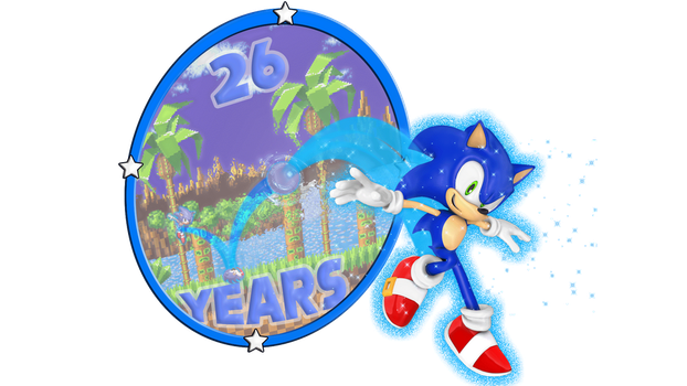Happy 26th Sonic! by CosmicBlaster97