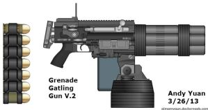 Grenade Gatling Gun V.2 by c-force
