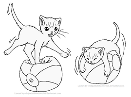 Ball Balancing Lineart by WildpathOfShadowClan