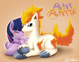 Pony and Ponyta by vavacung