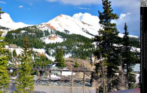 Red Mountain and Mining Ghost Town by DamselStock