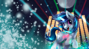 Vinyl Scratch Button Wallpaperized by SuperSecretBrony