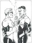 Hal and Sinestro staredown by RougeDK
