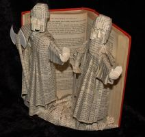 The Guardians of Argonath Book Sculpture by wetcanvas