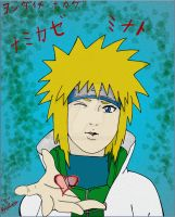 Namikaze Minato -Colored- by RayneDarkknight
