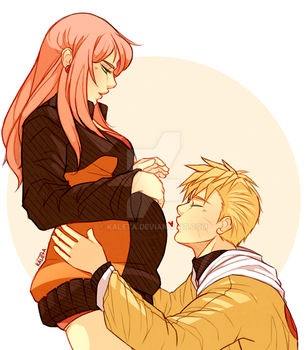 Narusaku: Proud parents by Kaleta