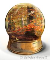 Autumn Globe Series by DeirdreMariePowell