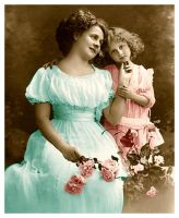 VintageTintedPostcardMother1 by Bnspyrd