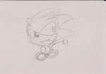 I drawed a sanic by Blood-wolf94