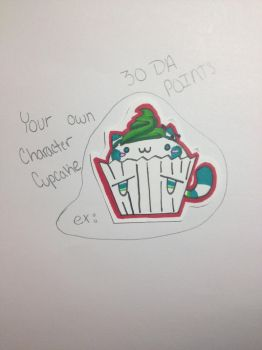 YCH Character Cupcake, By: Me by lpsstripes