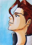 Prize ACEO: Aizen by pink-gizzy