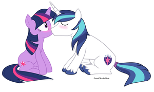 Shining Sparkle kiss by EeveePikachuChan