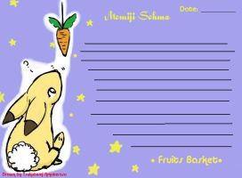 Furuba Stationary by Goddess-Kisa