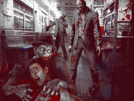 Zombie Train by luiggi26