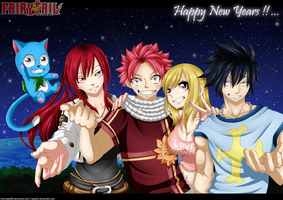 Fairy Tail - Happy New Years ! by themisaki66