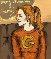 Ginny at the burrow by secki97