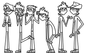 Total Drama Multiple Mike Line Art by EvaHeartsYou