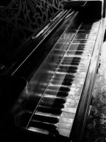 Black and White Piano by ElleonDire