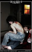 Death Note Cosplay: Bloody Kisses: Beyond Birthday by Redustrial-Ruin