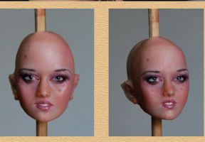 Pink Delight  WIP head by fairiesndreams