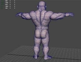 Stump 3D wireframe back by NMRosario
