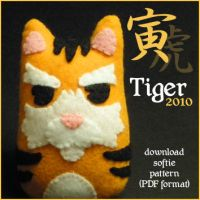 Tiger Softie Pattern by quexthemyuu