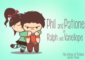 Vanellope and Ralph by patione