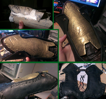 Gold and Black, Vambrace WIP 3 [AC: Syndicate] by Pearlite