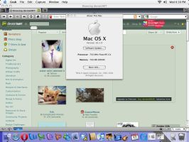 iMac G4: Mac OS X Panther Desktop by charmanderfan7
