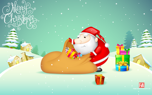 Merry Christmas hd wallpaper by greenwind007