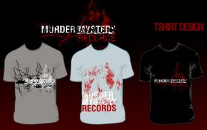 murdermysteryrecordstshirtdes by feel-numb