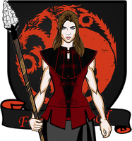Rhaenys the daughter of Rhaegar Targaryen by Kwnnos