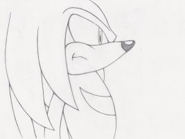 Knuckles Lineart by RubintheHorse