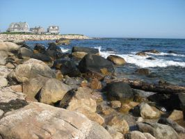 rocks at Misquamicut by Moon-WillowStock