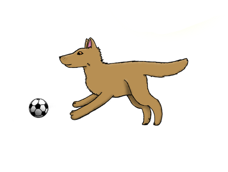 Wolf With Soccer Ball by StormyRiver