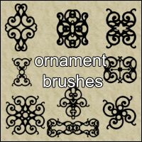 Ornament Brushes 2 by little-stock